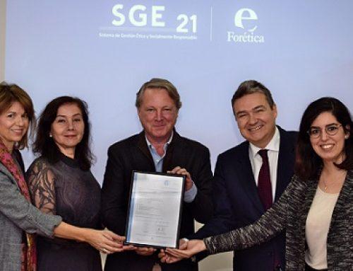 Grupo Castillo de Canena, primera empresa oleícola en conseguir la certificación en un Sistema de Gestión Ética y Socialmente Responsable con la norma SGE 21 de Forética