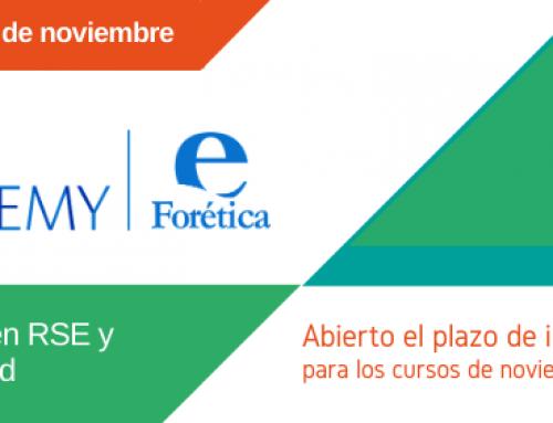 Forética lanza la edición de noviembre 2019 de la CSR Academy, plataforma de formación en RSE y sostenibilidad