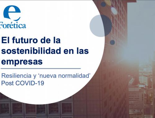El futuro de la sostenibilidad en las empresas. Resiliencia y 'nueva normalidad' Post COVID-19